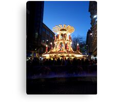 Frankfurt Christmas Market Bars in Birmingham at Night Canvas Print