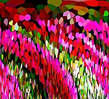 Color Burst Floral Abstract by Saundra Myles
