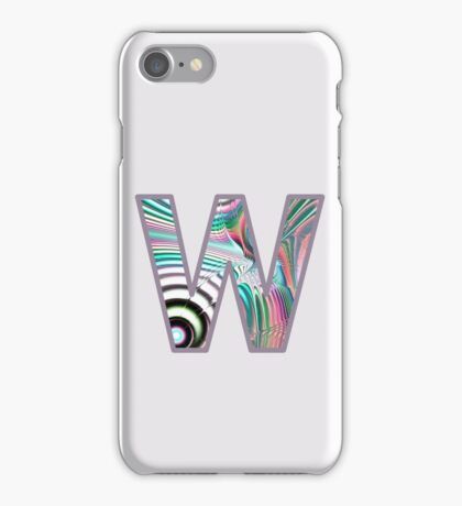 Fractal – Alphabet –  W is for Waves iPhone Case/Skin