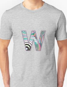 Fractal – Alphabet –  W is for Waves T-Shirt