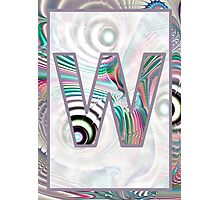 Fractal – Alphabet –  W is for Waves Photographic Print