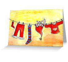 Christmas Clothesline Greeting Card