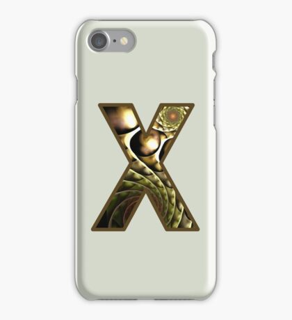 Fractal – Alphabet –  X is for X-Ray iPhone Case/Skin