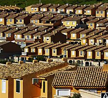 Suburbian houses in rows by Sami Sarkis