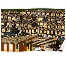 Suburbian houses in rows Poster