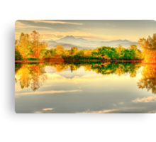 Reflections On Golden Ponds Canvas Print