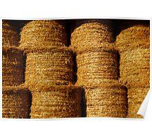 Haystacks in pile Poster