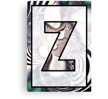 Fractal – Alphabet –  Z is for Zebra Colors Canvas Print