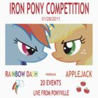Rainbow Dash vs Applejack by Shadowbolt