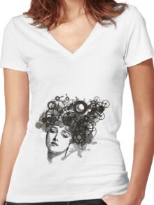 Rusty Lady Women's Fitted V-Neck T-Shirt