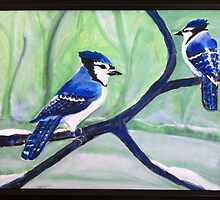 Blue Jays by Suzi Linden