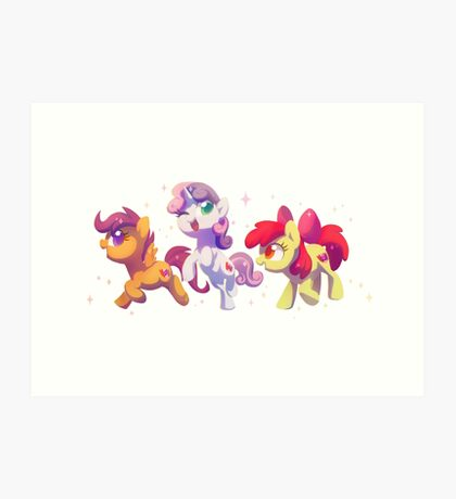 Cutie Mark Crusaders Art Print