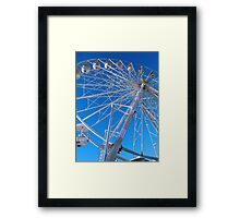 Giant Ferris Wheel Against Bright Blue Sky Framed Print