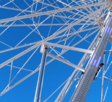 Giant Ferris Wheel Against Bright Blue Sky Sticker