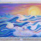 Pelicans Surf by Suzi Linden