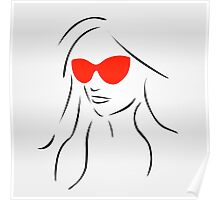 Stylish girl wearing shades  Poster