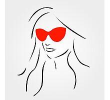 Stylish girl wearing shades  Photographic Print