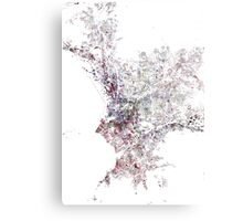 Marseille map watercolor painting Canvas Print