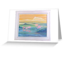 Spoonbills Greeting Card