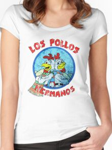 Los Pollos Hermanos Wink (retro) Women's Fitted Scoop T-Shirt