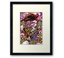 Starving Artist with a Devious Mind Framed Print
