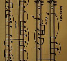 Iphone case 'Sheet music' by Javimage