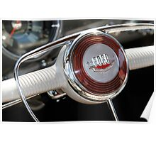 '50 Ford Steering Wheel Poster