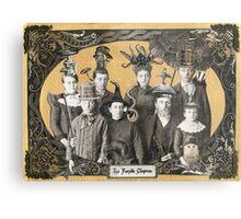La Famille Chapeau - Portrait of an Odd Family Metal Print
