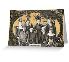 La Famille Chapeau - Portrait of an Odd Family Greeting Card