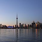 Dusk Setting On Toronto Skyline by NewfieKeith