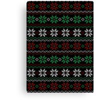 Ugly Flower Sweater Canvas Print