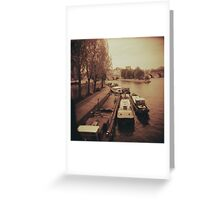 Once upon a time in Paris Greeting Card