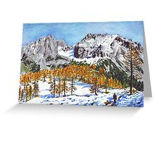 Golden Larches of Dachstein Greeting Card