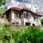 A digital painting of An Abandoned House in Romania by Dennis Melling
