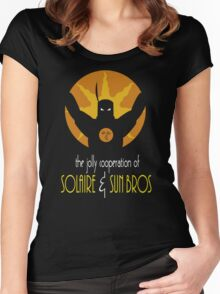 THE JOLLY COOPERATION OF SOLAIRE & SUN BROS (BATMAN THE ANIMATED SERIES PARODY) Women's Fitted Scoop T-Shirt