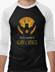 THE JOLLY COOPERATION OF SOLAIRE & SUN BROS (BATMAN THE ANIMATED SERIES PARODY) Men's Baseball ¾ T-Shirt