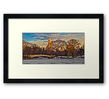 Bow Bridge In Winter Framed Print