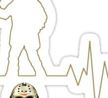 Heartbeat Jason Voorhees Sticker