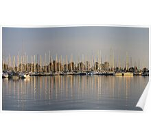 Sunset On Etobicoke Yacht Club Poster