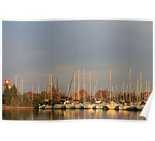 Sunset On Fall Colors..Etobicoke Yacht Club Poster