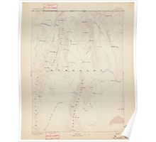 USGS Topo Map Nevada Disaster 321654 1893 250000 Poster