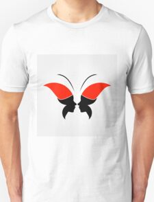 Face forming a butterfly Unisex T-Shirt