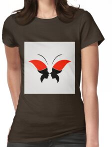 Face forming a butterfly Womens Fitted T-Shirt