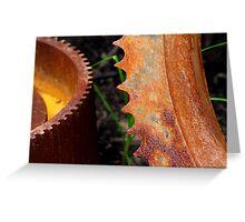 Rusty Gear Teeth Greeting Card
