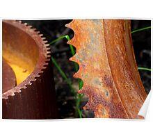 Rusty Gear Teeth Poster