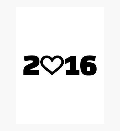 2016 heart Photographic Print