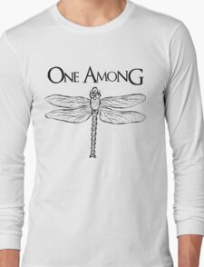 Dragonfly Among the Fence (Black) Long Sleeve T-Shirt