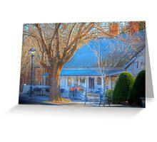Bicycle Cafe, Hahndorf, Adelaide Hills Greeting Card