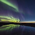 Sunset and northern lights by Frank Olsen