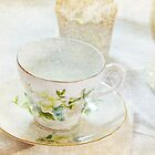 Vintage Cup and Saucer by Patsy Smiles